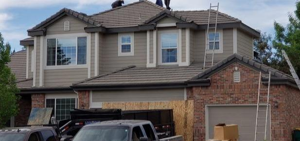 Tile Roof added Curb Appeal and Value in Centennial, Colorado - Before Photo