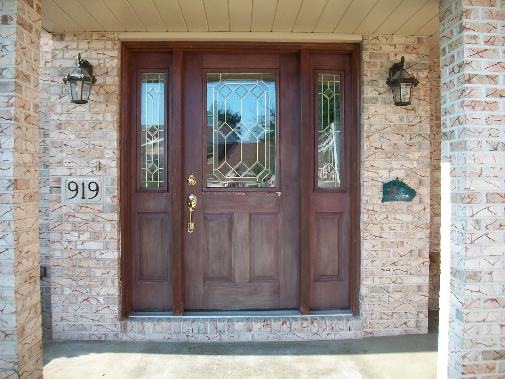 Before and After of Beautiful Entry door in Greensburg, PA - Before Photo