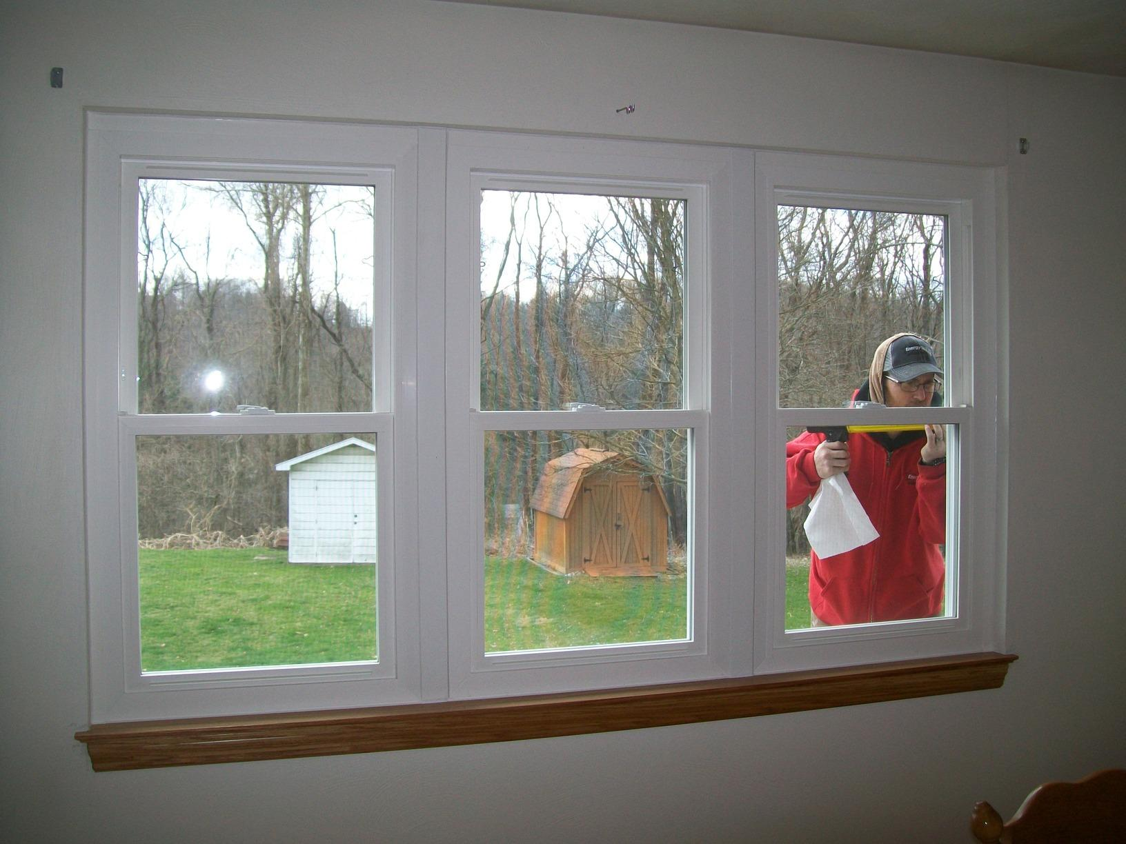 Old Slider Replaced with Double Hung Windows in North Huntingdon, PA - After Photo