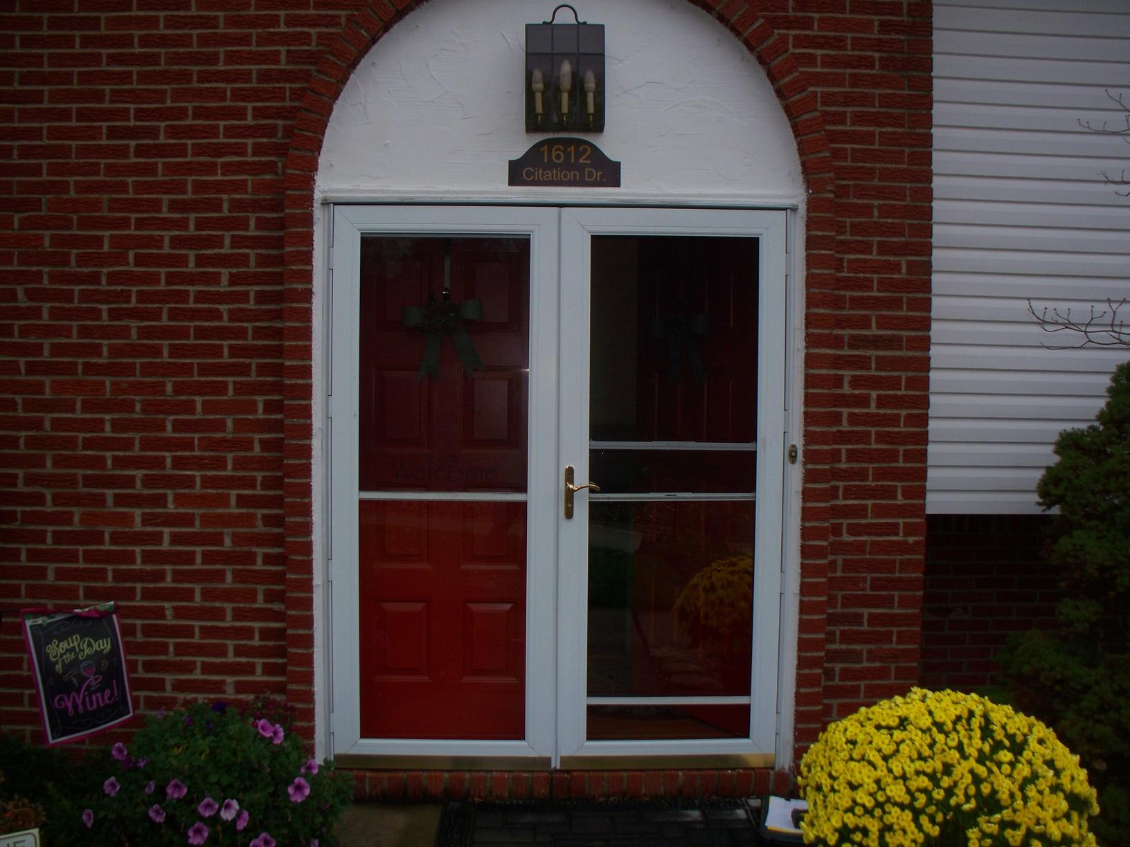Double Entry Door & Storm Door Replacement In South Park, PA - Before Photo