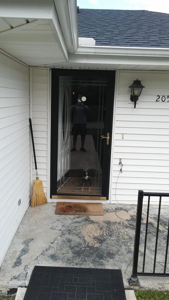 Entry Door Upgrade in Harrison City, PA - Before Photo