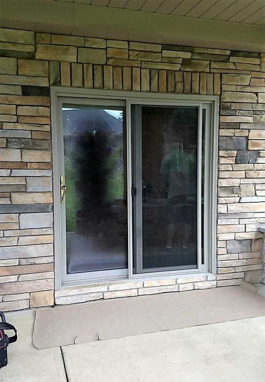 Patio Door Replaced in Latrobe, PA - Before Photo