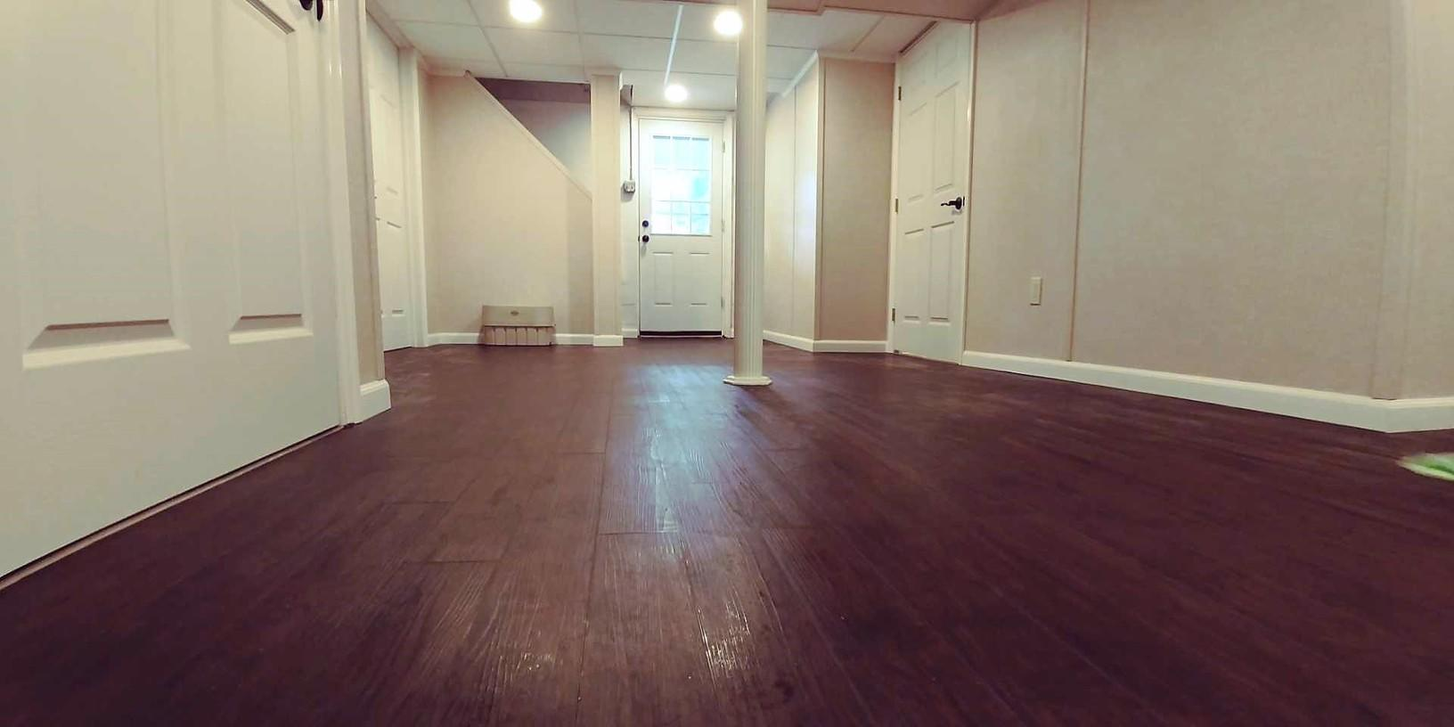 Basement Transformed into Family Room, Office & Bathroom in McKeesport, PA! - After Photo