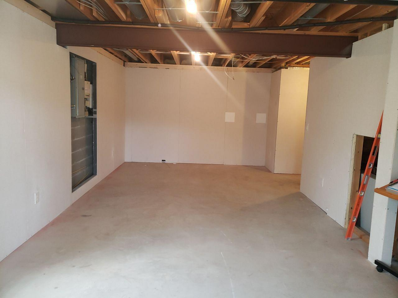 Awesome Basement Transformation in Monroeville, PA! - Before Photo