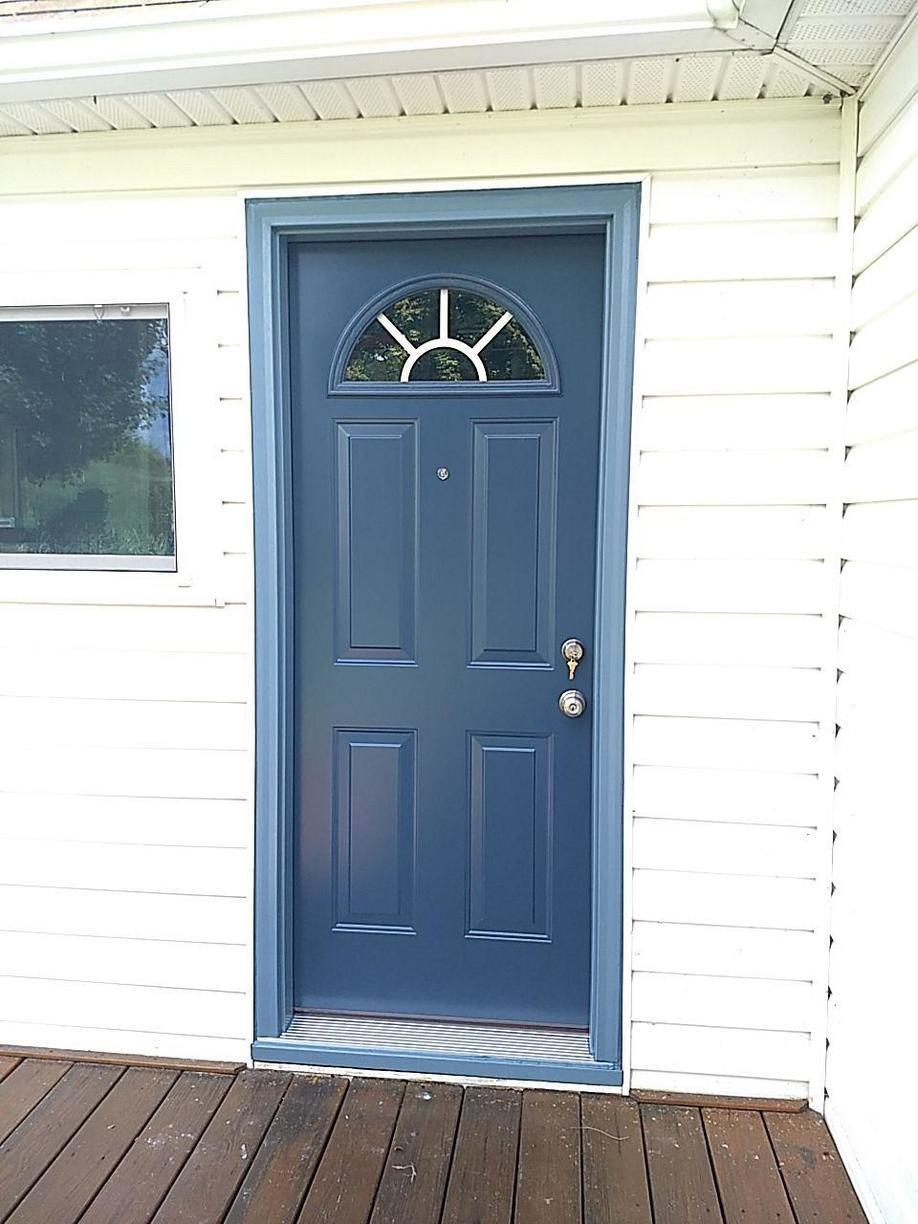 Enzian Blue Entry Door Installed in Claysville, PA! - After Photo