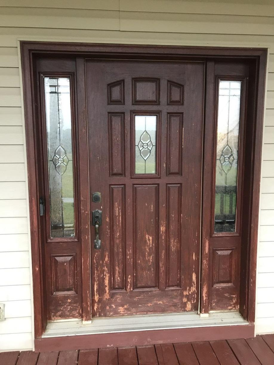 Single Entry Door Upgraded to French Double Door! - Before Photo