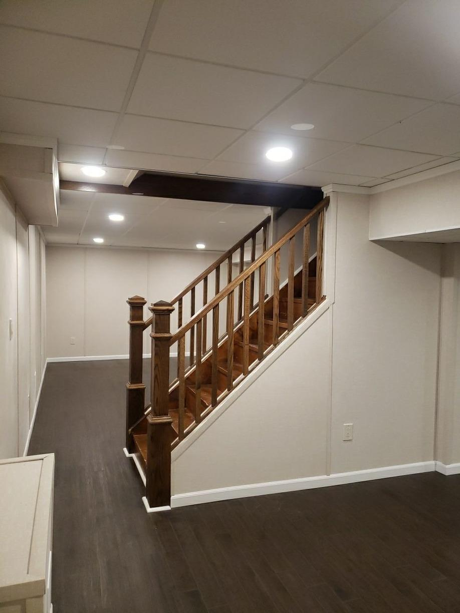 Dated Basement Becomes Modern Living Space in Murrysville Home! - After Photo