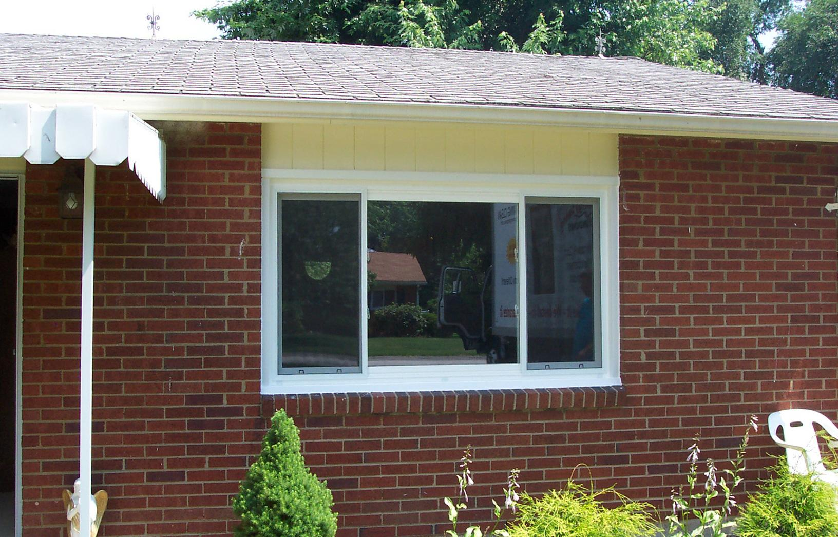 Three-panel slider window installation in Greensburg, PA - After Photo