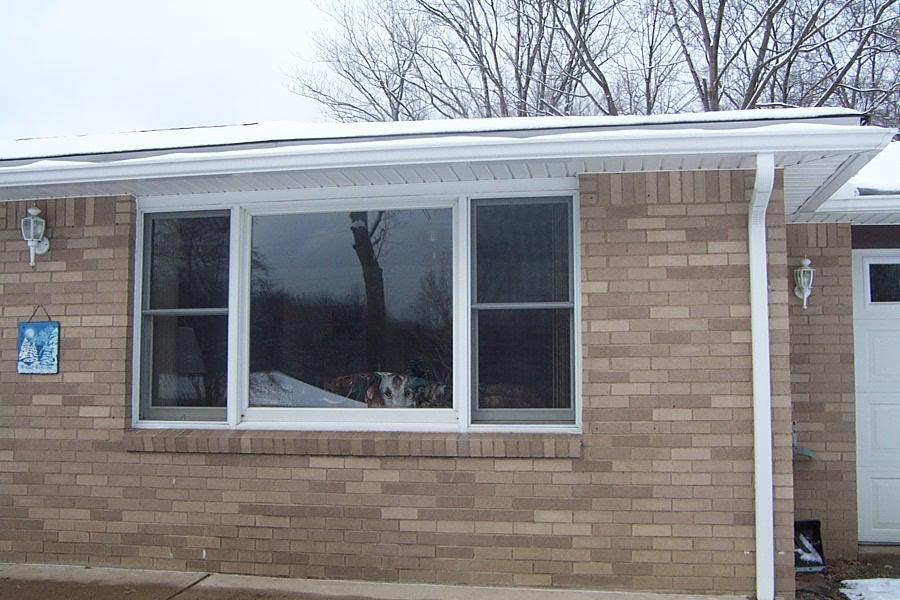 Bay window transformation in Ligonier, PA - Before Photo