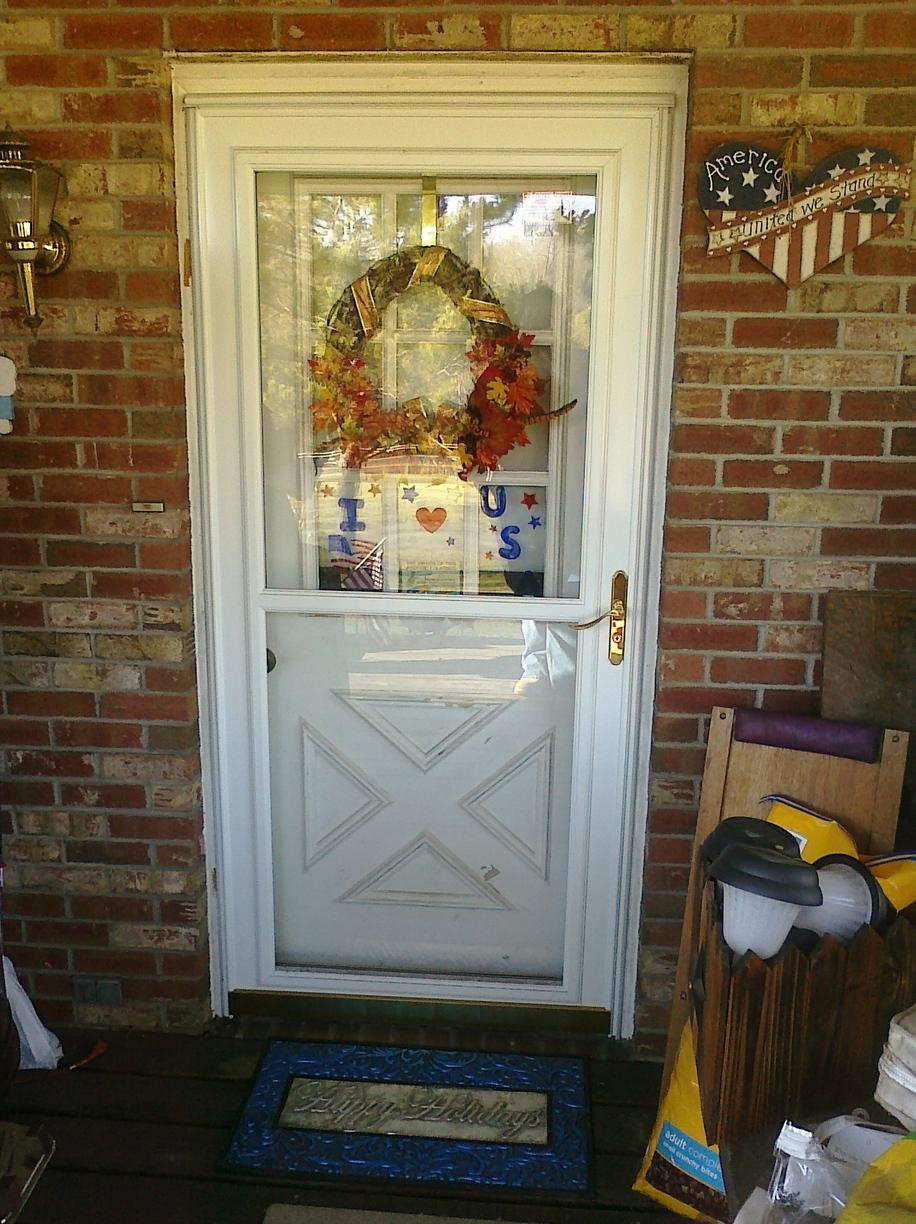 Door replacement in Homer City, Indiana County PA - Before Photo