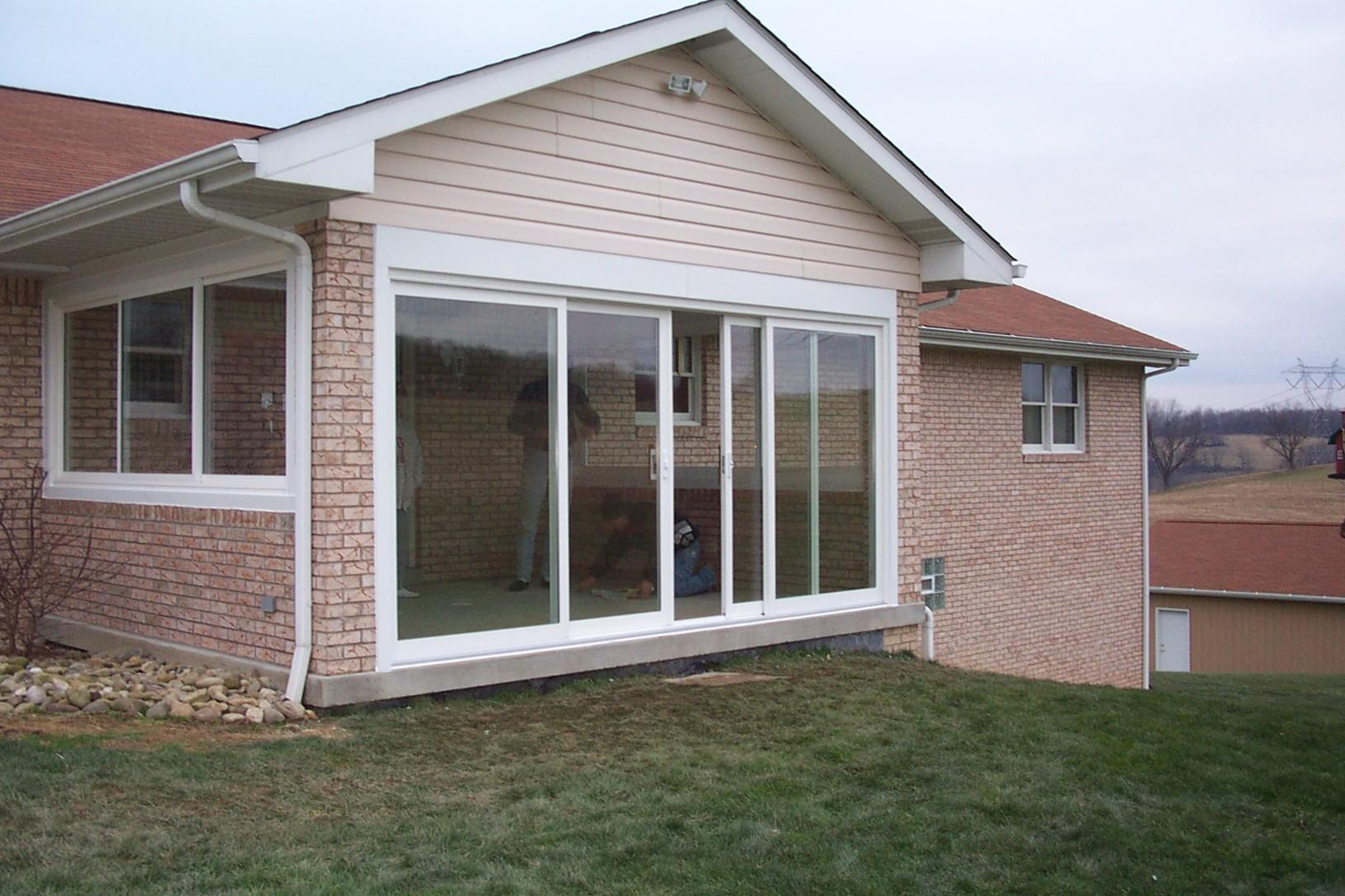 Porch enclosed with new windows and sliding glass doors in Greensburg, PA - After Photo