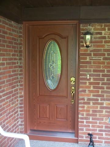 Outdated entry door replaced with beautiful new door in Greensburg, PA