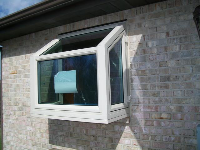 Double hung window replaced by garden window in Greensburg, PA
