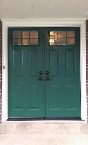 Complete transformation seen with french, entry door replacement in Murrysville, PA! - After Photo