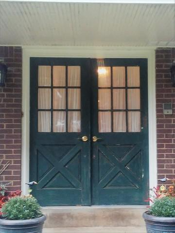 Complete transformation seen with french, entry door replacement in Murrysville, PA! - Before Photo