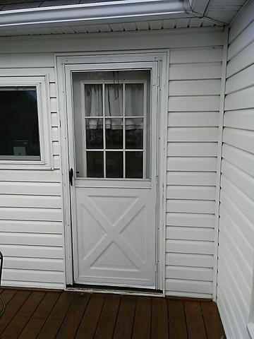 Enzian Blue Entry Door Installed in Claysville, PA! - Before Photo