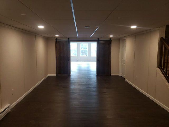 Large Basement with Barn Doors Finished in Monroeville, PA! - After Photo