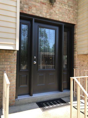Entry Door With Gorgeous Glass Installed in Glenshaw, PA!
