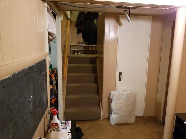 Basement Damaged by Water Transformed in Pittsburgh, PA! - Before Photo