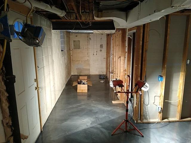 TBF Wall Panels, Ceiling Tiles & Full Bathroom Installed in Pittsburgh! - Before Photo