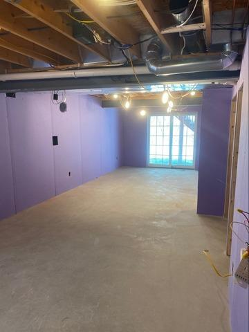 Plum Basement Becomes A Beautiful, Functional Space!