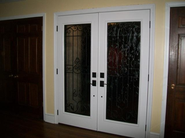 Double front entry door installation in Export, PA