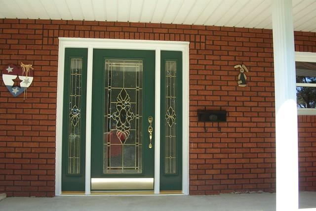 Front Entry Door with Decorative Glass Installed in Irwin, PA