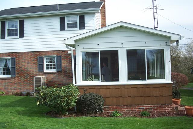 Porch windows replaced by new vinyl windows in West Leechburg, PA