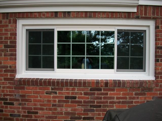 Three-panel slider window installation in Wexford, PA