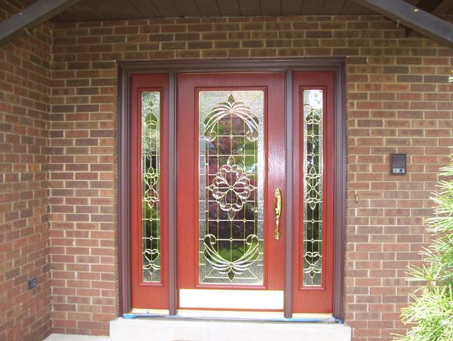Front entry door with decorative glass installed in Murrysville, PA