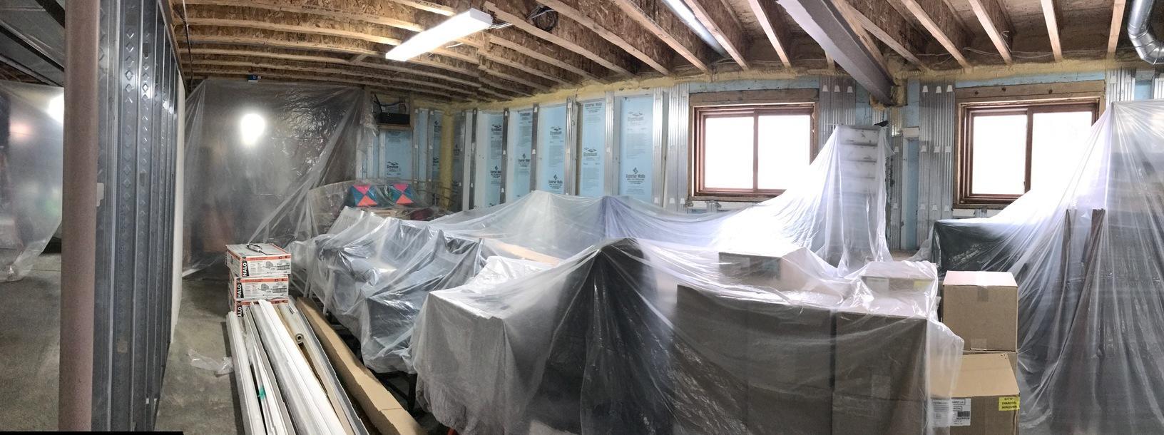 Full Basement Finishing in East Aurora, NY - Before Photo