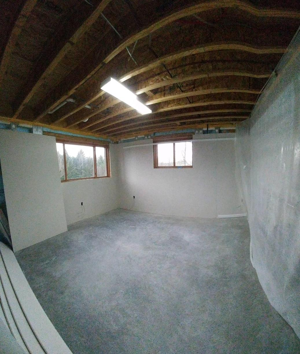 Finishing a Basement for an Expanding family in East Aurora, NY - Before Photo