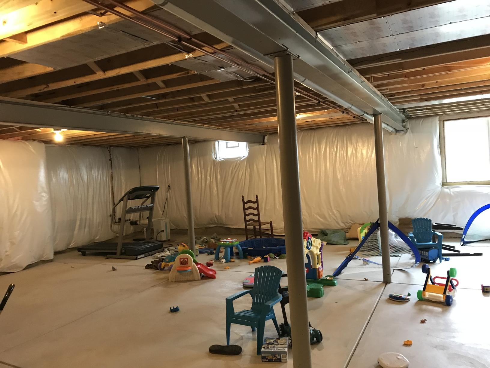 Remodeling a basement in Orchard Park, NY - Before Photo
