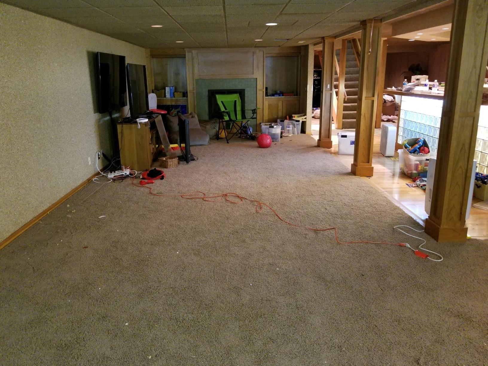 From Carpet to Crisp in Orchard Park. - Before Photo