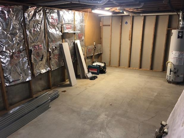 Basement Bedroom in Lakeview - Before Photo