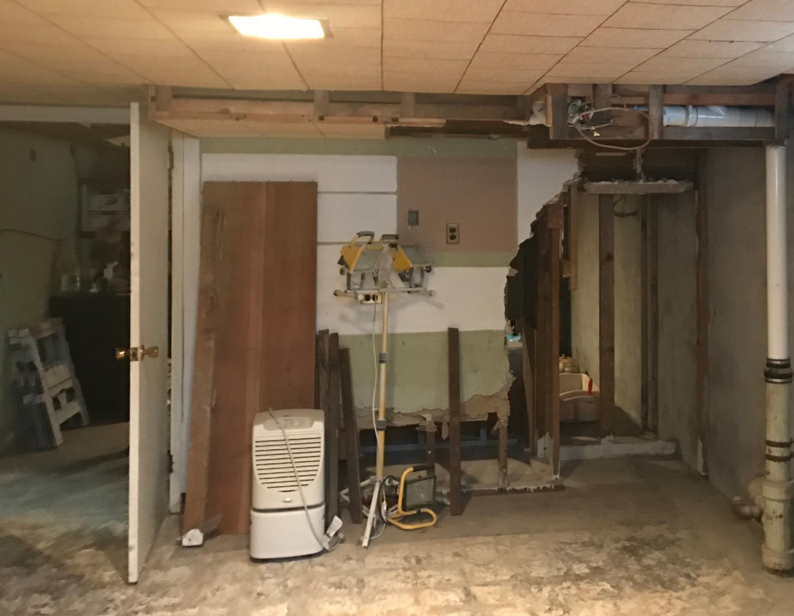 Maintenance Free Basement in Fredonia, NY - Before Photo
