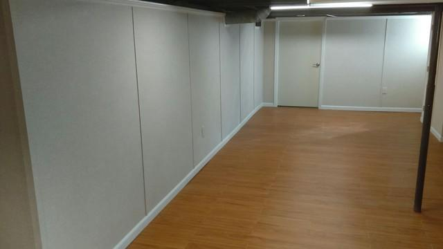 New Basement Flooring & Walls Installed in Angola, NY - After Photo