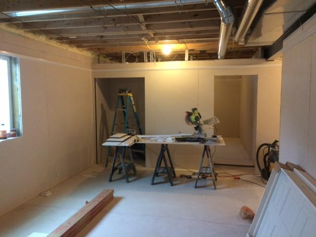 Full Basement Remodeling Project Completed in Amherst, NY