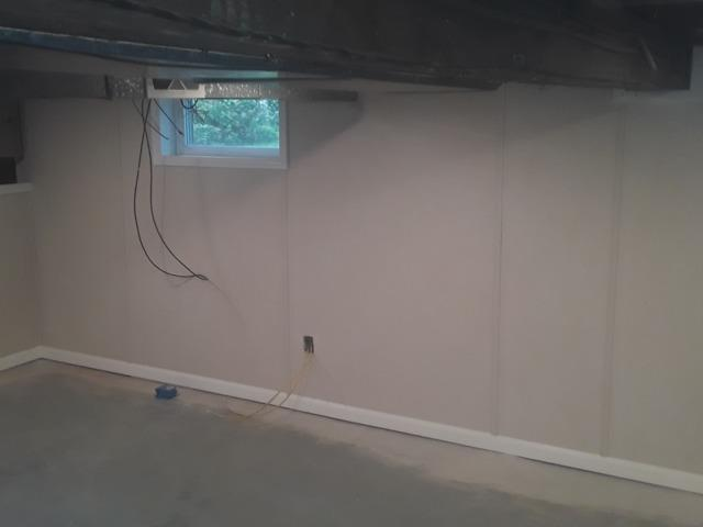 Finishing the Walls in Angola, NY