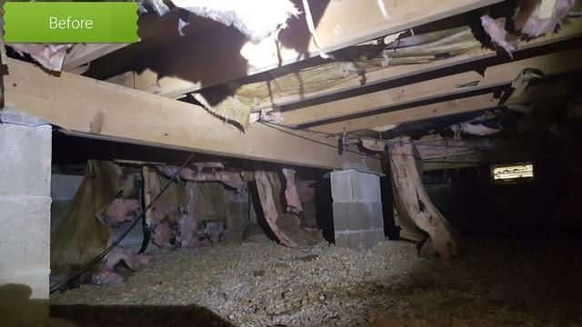 Full crawl space restoration in Mantoloking, NJ