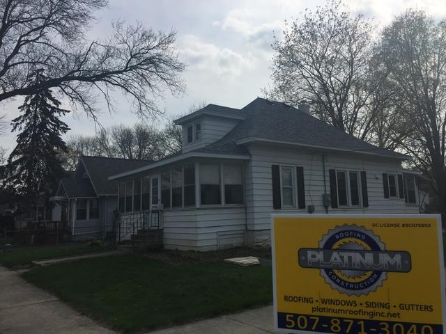Wind Damaged Roof Replacement in Rochester, MN