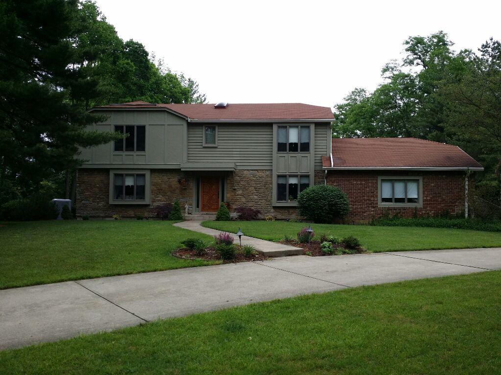 New Certainteed Cerdar Impressions Vinyl Shake Siding, Roof & Gutters in Cincinnati - Before Photo