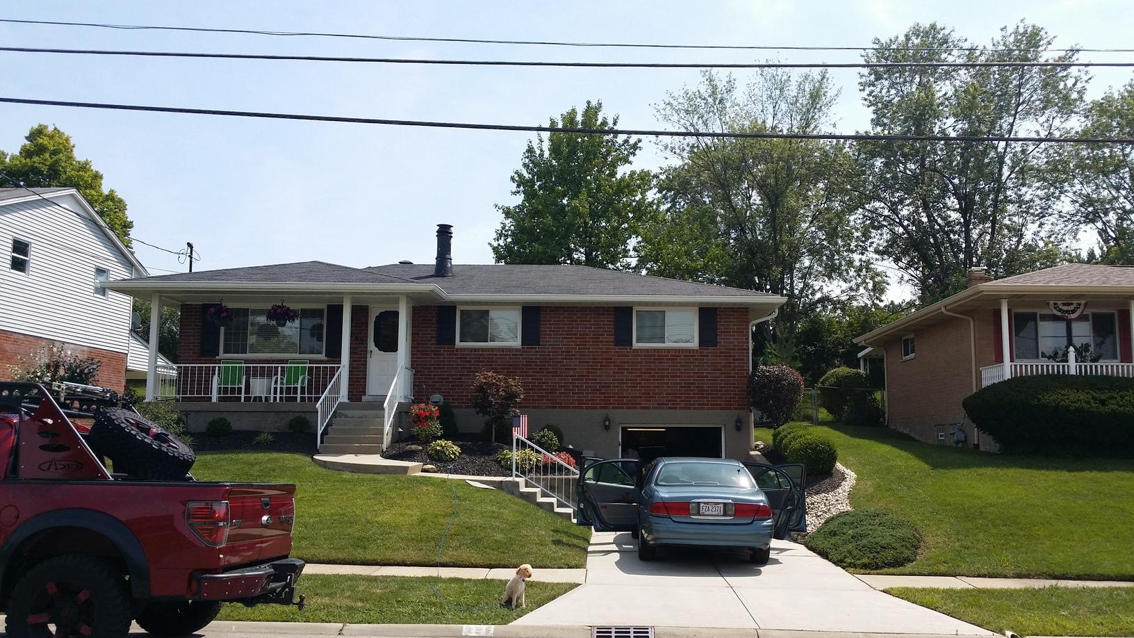 Roof Replacement and Gutter Installation in Cincinnati - Before Photo