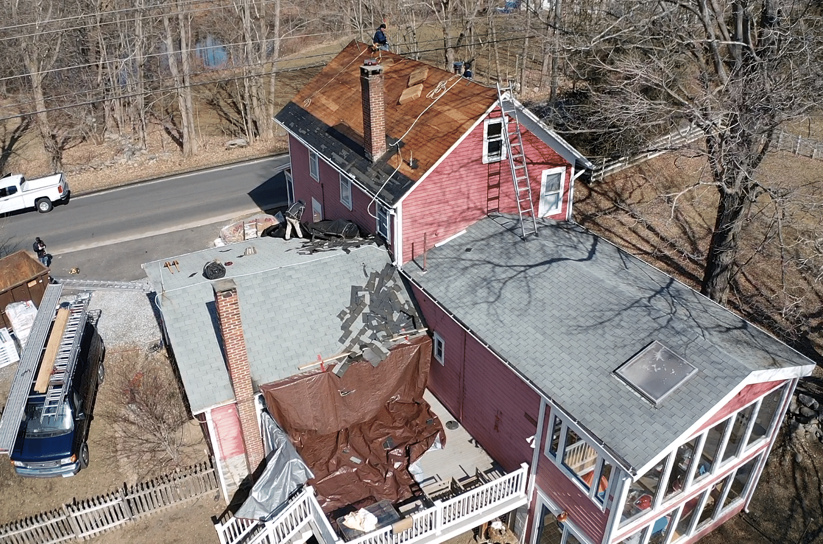 Roof Replacement in New Milford, CT - Before Photo