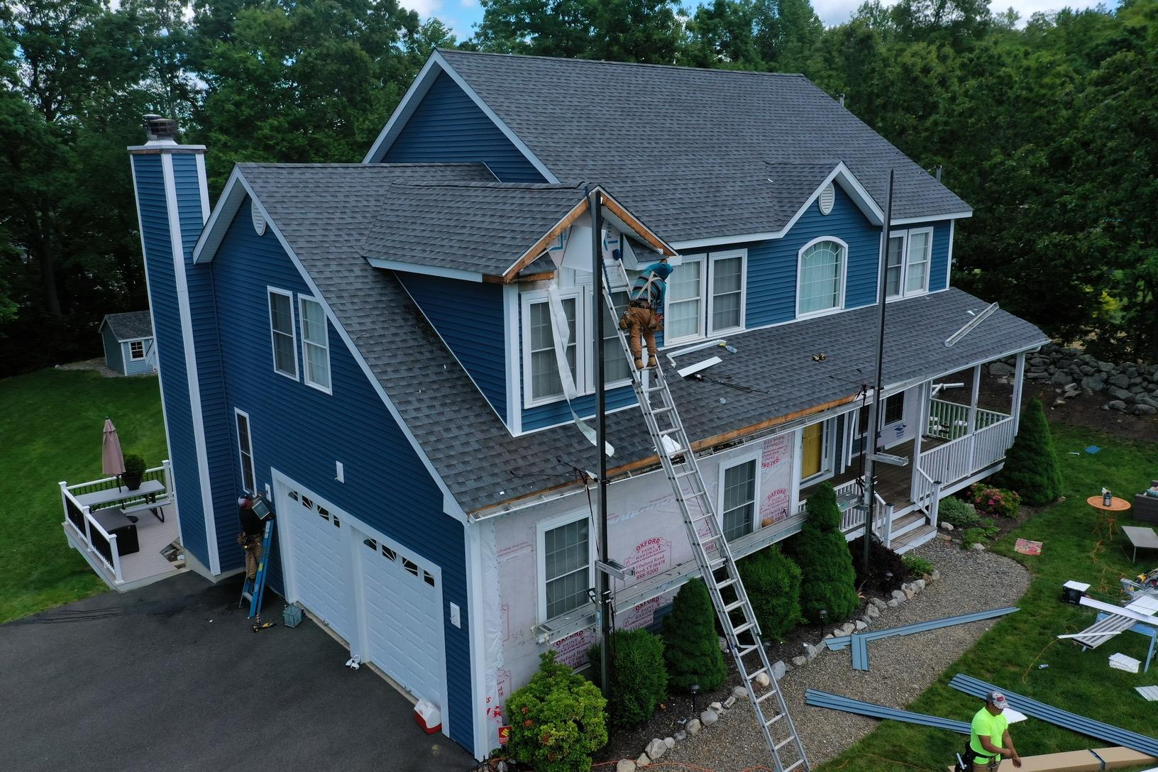 Siding Replacement in Beacon Falls, CT - Before Photo