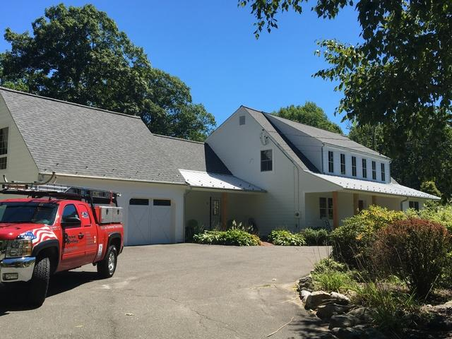 Metal/shingle roof replacement in Easton, CT