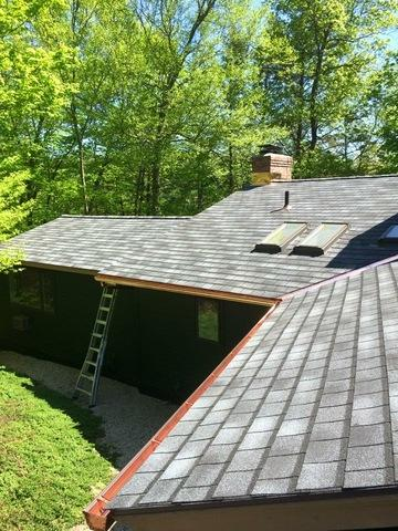 New roof in Greenwich, CT - Before Photo