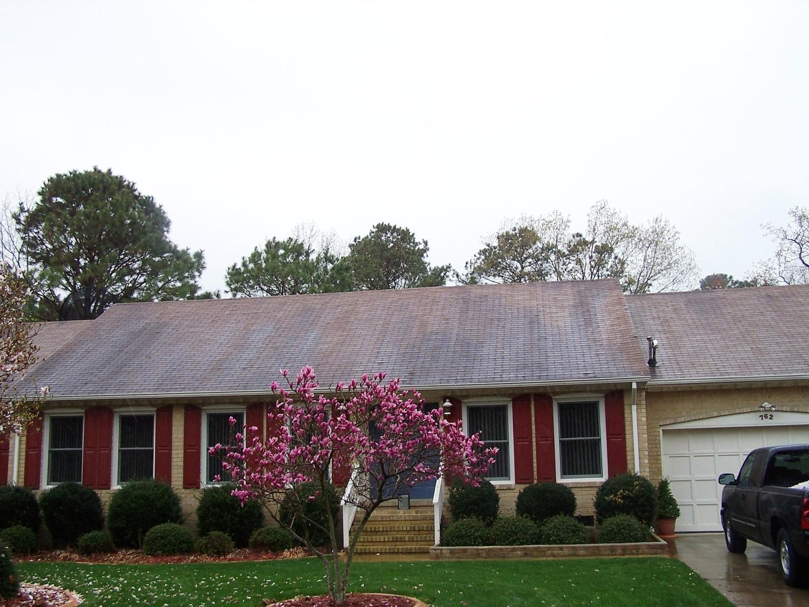 Roof and Shutter Replacement - Before Photo