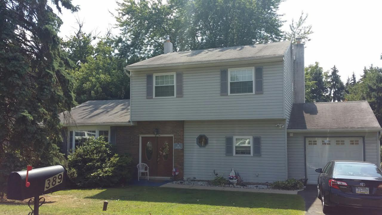 Roof Replacement in Feasterville PA - Before Photo