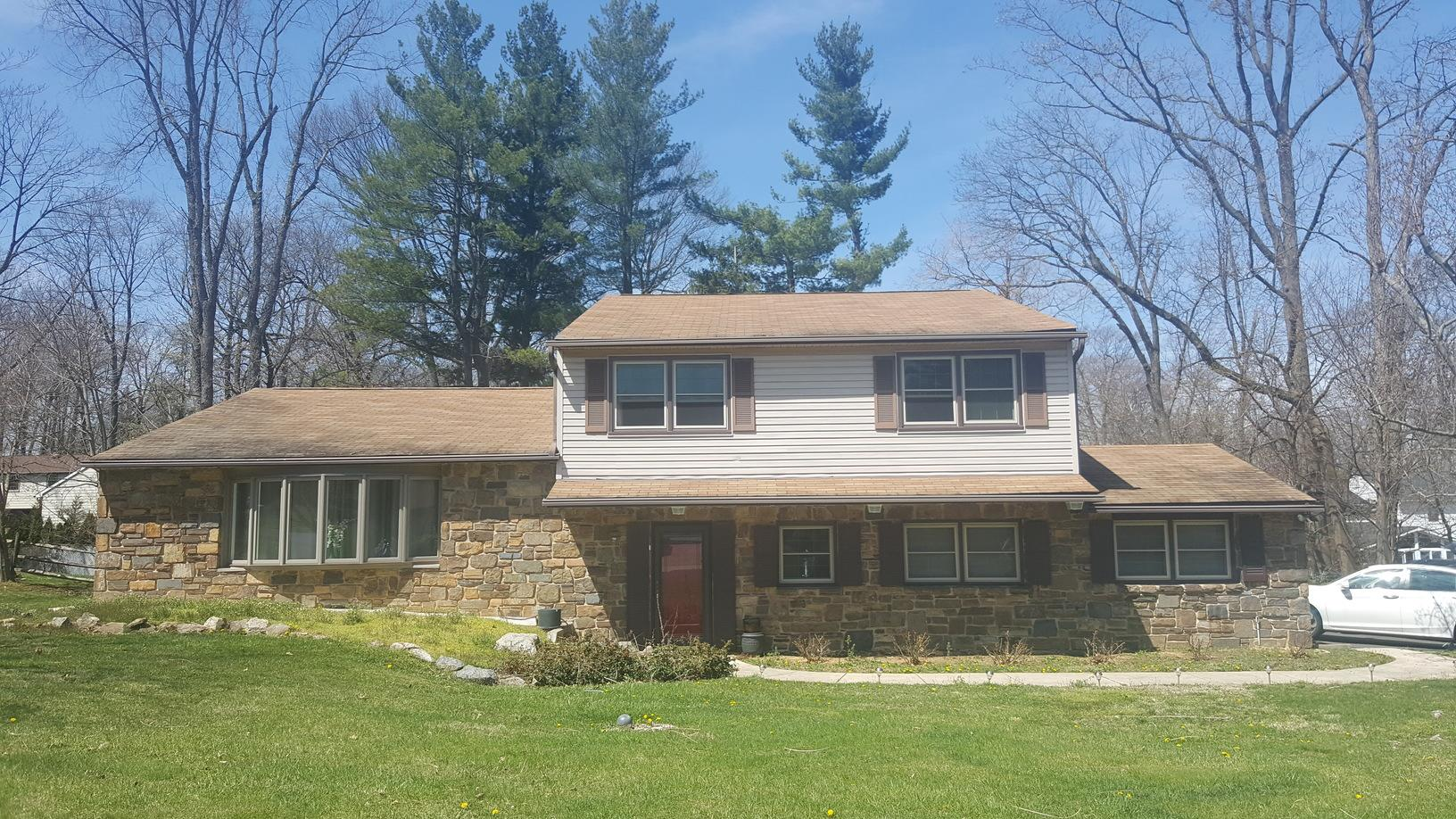 Roof Replacement in Huntingdon Valley, PA - Before Photo